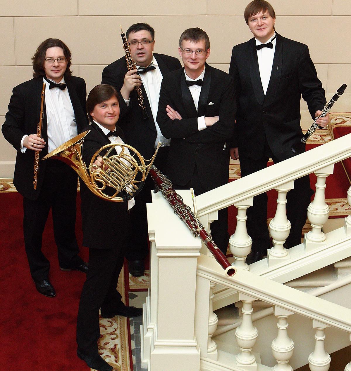 Духовой квинтет Большого театра. Фото - Андрей Мустафаев